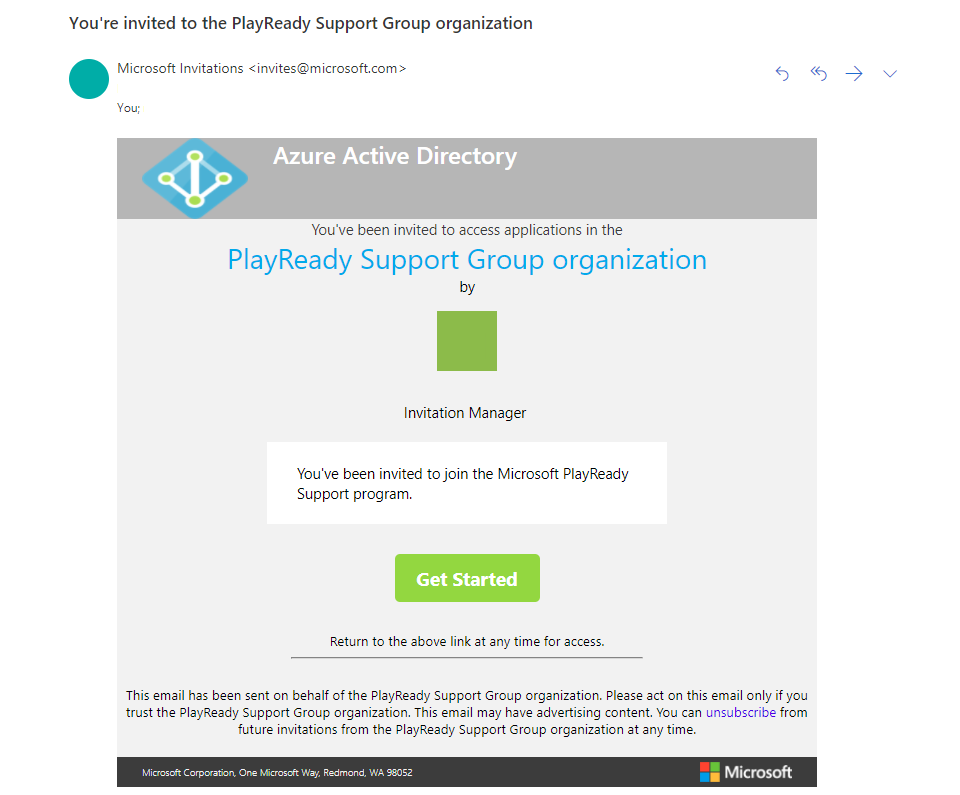 PlayReady Collaborate Migration Email